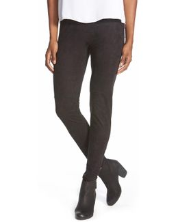 High Waist Faux Suede Legging