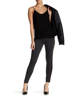 Leather Inset Legging (plus Size)