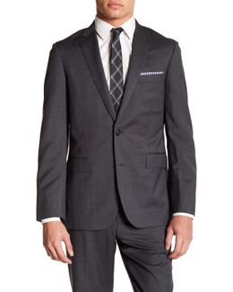 Notch Lapel Two Button Grey Jacket