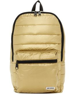 Packable Gold-toned Backpack