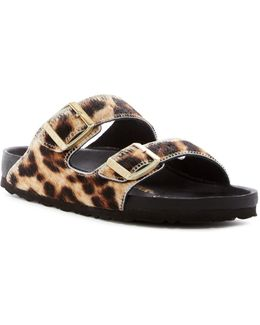 Arizona Exquisite Genuine Calf Hair Classic Footbed Sandal - Narrow Width - Discontinued