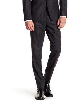 "Charcoal Pinstripe Wool Pant - 30-34"" Inseam"