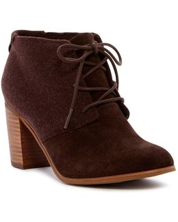 Lunata Lace-up Suede & Wool Bootie