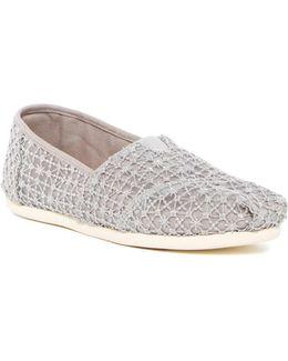Crochet Lace Alpargata Slip-on Flat
