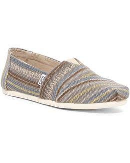 Grey Cult Stripe Slip-on Shoe