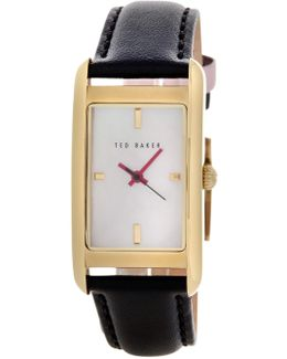 Women's Bliss Mother Of Pearl Leather Strap Watch