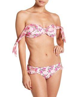 Molded Floral Twist Bikini Top