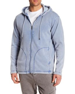M Connely Washed Zip Hoodie