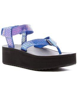 Universal Flatform Iridescent Platform Sandal