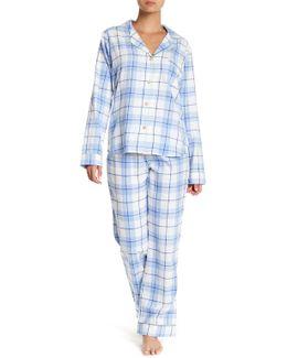 Plaid Pajama 2-piece Set