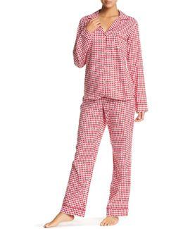 Raven Houndstooth Pajama 2-piece Set
