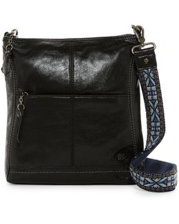 Iris Leather Crossbody