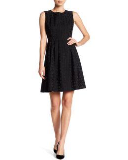 Novelty Jacquard Fit & Flare Dress