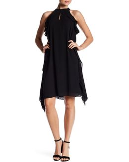 Georgette Ruffle Flare Dress