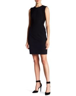 Sheath Dress With Lace Accent