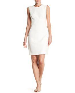 Lace Panel Sheath Dress