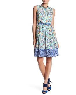 Printed Collar Dress