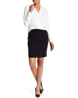 Bow Waist Midi Skirt