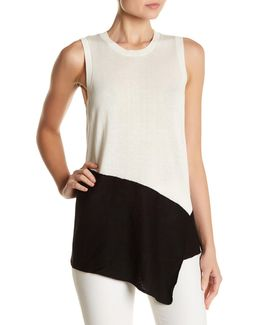 Asymmetrical Sleeveless Sweater