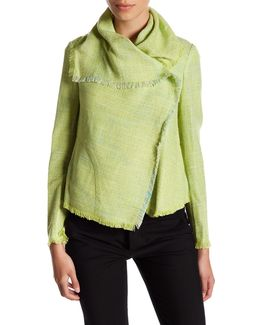 Asymmetrical Multi Tweed Jacket