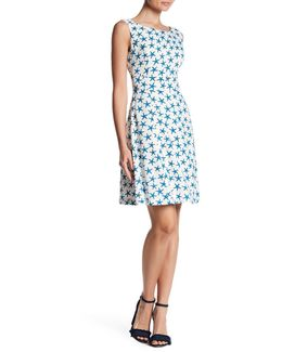 Patterned Flare Dress
