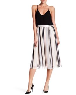 Bridle Striped Midi Skirt