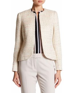 Sequined Tweed Blazer