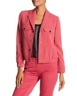Snap Button Collared Jacket