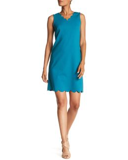 Scallop Neck A-line Dress