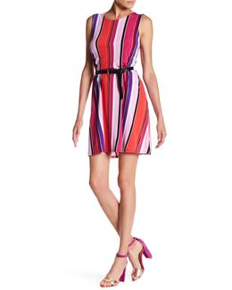 Stripe Jersey Trapeze Dress