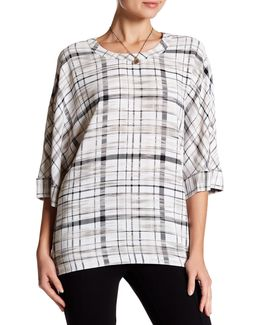 Plaid Boxy Pullover