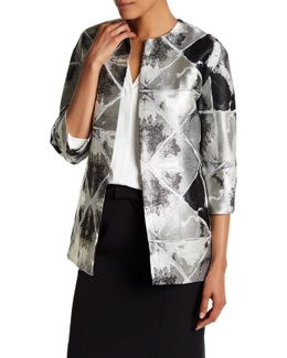 Metallic Jacquard Print Jacket