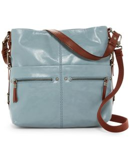 Sanibel Leather 2-tone Bucket Bag