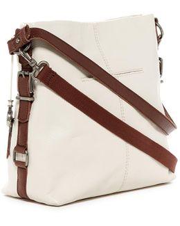 Sanibel Leather 2-tone Bucket Bag
