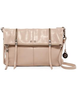 Sanibel Foldover Leather Crossbody