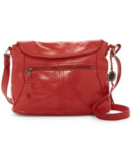 Esperato Flap Leather Hobo Bag