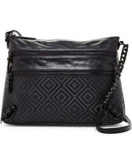 Mari 3-zip Leather Crossbody