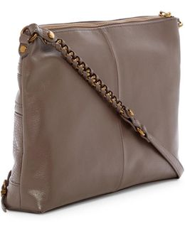 Mari 3-zip Leather Crossbody