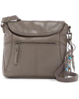 Esperato Leather Flap Crossbody Bag