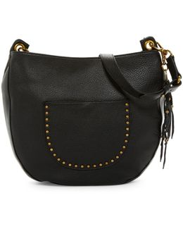 Zinnia Leather Hobo