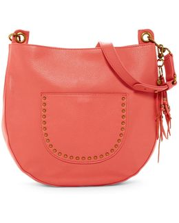 Zinnia Leather Hobo