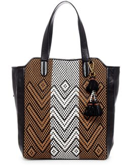 Marcel Woven Leather Tote