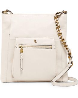 Gwen Flat Leather Crossbody