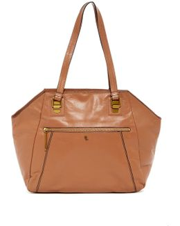 Faro Leather Shoulder Tote