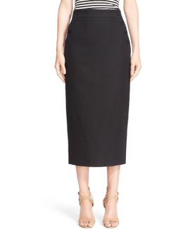 March Stretch Cotton Pencil Skirt