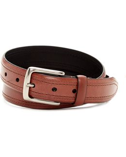 Double Stitch Leather Belt