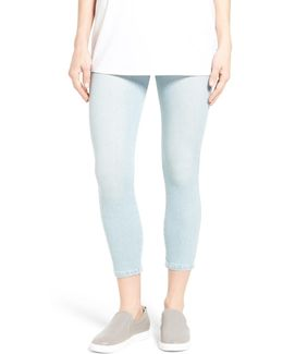 Toothpick High Rise Crop Denim Leggings
