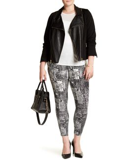 Plus Mindy Zip Cropped Leggings