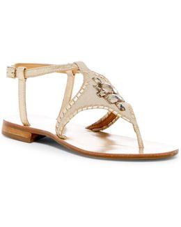 Maci Jeweled Thong Sandal