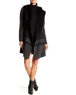 Ellie Hooded Wool Blend Wrap Coat